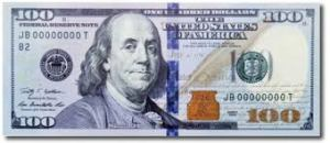 There is no longer a reference to the Federal Reserve System. Interesting . . . 100-dollar-bill